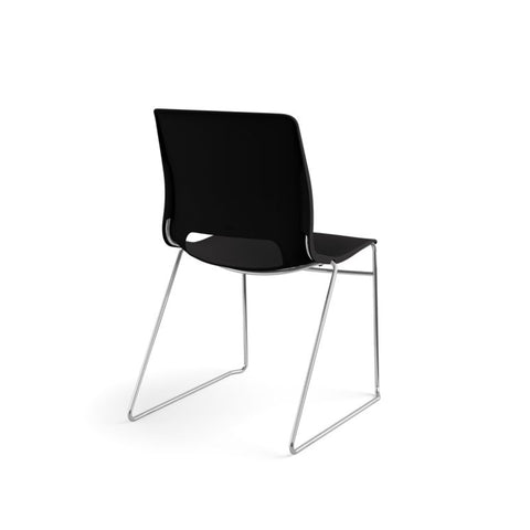 HON Motivate High-Density Stacking Chair | Onyx Shell | 4 per Carton ; UPC: 631530562852 ; Image 5