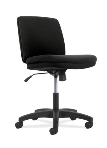 HON Contemporary Low-Back Task Chair | Swivel-Tilt Control | Armless | Black Fabric ; UPC: 089191996378 ; Image 1
