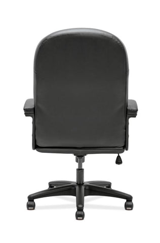 HON Pillow-Soft Executive High-Back Chair | Fixed Arms | Black SofThread Leather ; UPC: 888206940166 ; Image 4