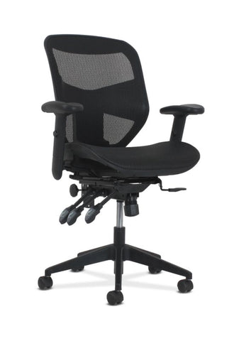 HON Prominent High-Back Task Chair | Asynchronous Tilt Control | Black Mesh ; UPC: 020459596725 ; Image 1