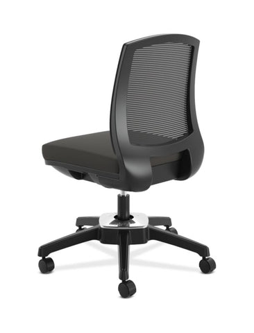 HON Active Task Chair | Armless | 360-Degree Pivot Motion | Black Mesh ; UPC: 884128789753 ; Image 4