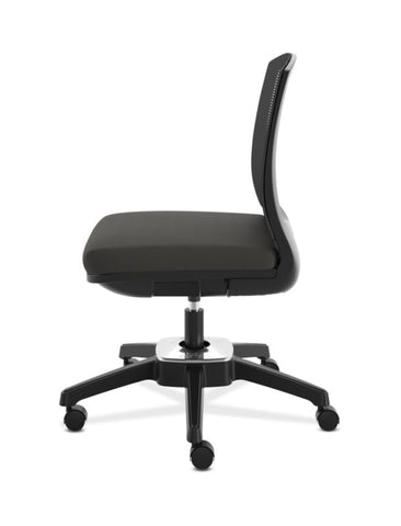 HON Active Task Chair | Armless | 360-Degree Pivot Motion | Black Mesh ; UPC: 884128789753 ; Image 5