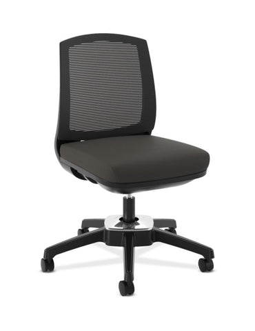 HON Active Task Chair | Armless | 360-Degree Pivot Motion | Black Mesh ; UPC: 884128789753 ; Image 1