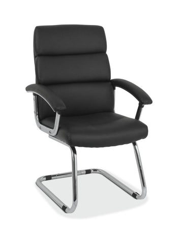 HON Traction Low-Back Modern Guest Chair | Black SofThread Leather ; UPC: 191734930050 ; Image 1