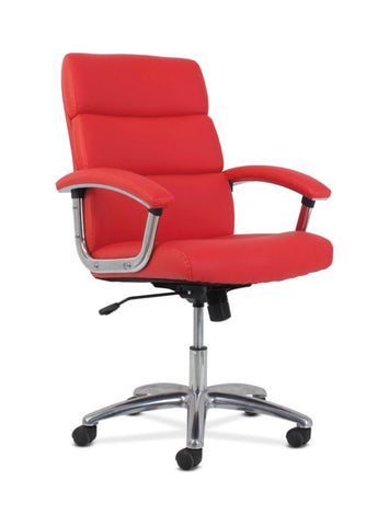 HON Traction High-Back Modern Executive Chair | Red Leather ; UPC: 641128070706 ; Image 1