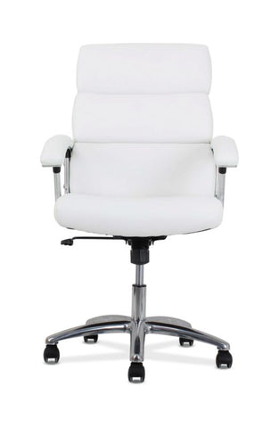 HON Traction High-Back Modern Executive Chair | White Leather ; UPC: 191734964413 ; Image 2