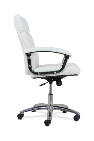 HON Traction High-Back Modern Executive Chair | White Leather ; UPC: 191734964413 ; Image 3