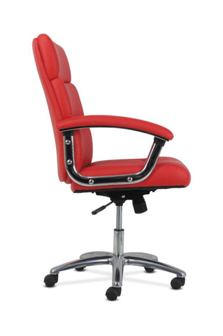 HON Traction High-Back Modern Executive Chair | Red Leather ; UPC: 641128070706 ; Image 3