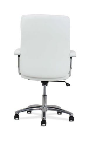 HON Traction High-Back Modern Executive Chair | White Leather ; UPC: 191734964413 ; Image 5