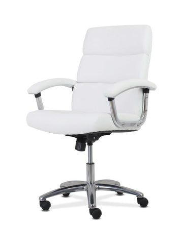 HON Traction High-Back Modern Executive Chair | White Leather ; UPC: 191734964413 ; Image 6