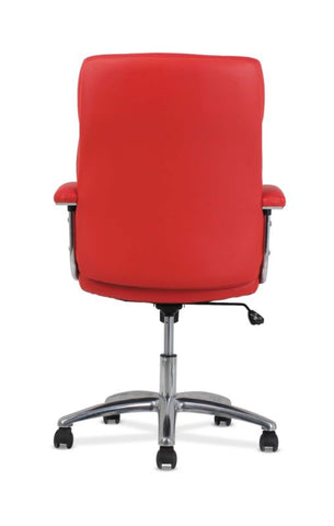 HON Traction High-Back Modern Executive Chair | Red Leather ; UPC: 641128070706 ; Image 5
