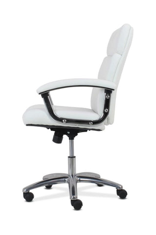 HON Traction High-Back Modern Executive Chair | White Leather ; UPC: 191734964413 ; Image 4