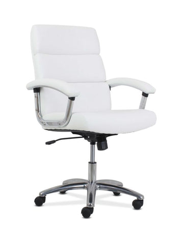 HON Traction High-Back Modern Executive Chair | White Leather ; UPC: 191734964413 ; Image 1