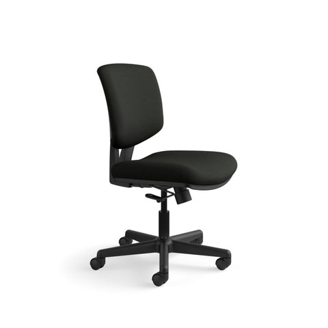 HON Volt Task Chair | Center-Tilt, Tension, Lock | Black SofThread Leather ; UPC: 791579531728 ; Image 2
