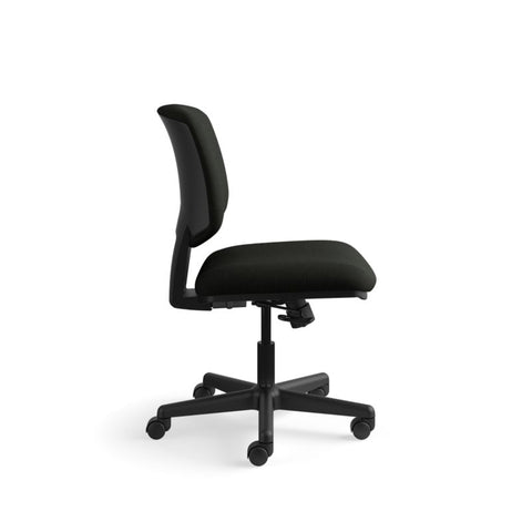 HON Volt Task Chair | Center-Tilt, Tension, Lock | Black SofThread Leather ; UPC: 791579531728 ; Image 3