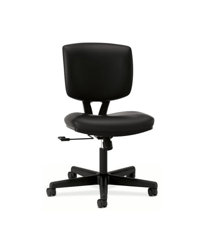 HON Volt Task Chair | Center-Tilt, Tension, Lock | Black SofThread Leather ; UPC: 791579531728 ; Image 1