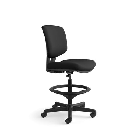 HON Volt Task Stool | Extended Height, Footring | Black Fabric ; UPC: 641128986397 ; Image 2