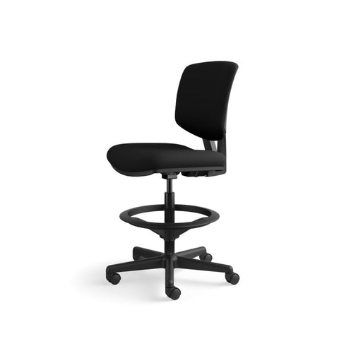 HON Volt Task Stool | Extended Height, Footring | Black Fabric ; UPC: 641128986397 ; Image 10
