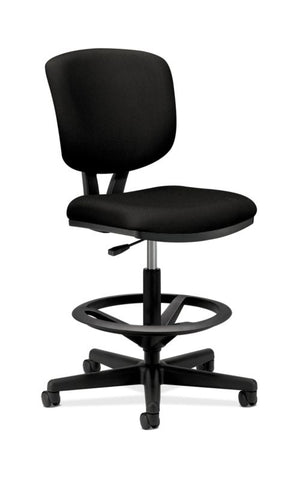 HON Volt Task Stool | Extended Height, Footring | Black Fabric ; UPC: 641128986397 ; Image 1