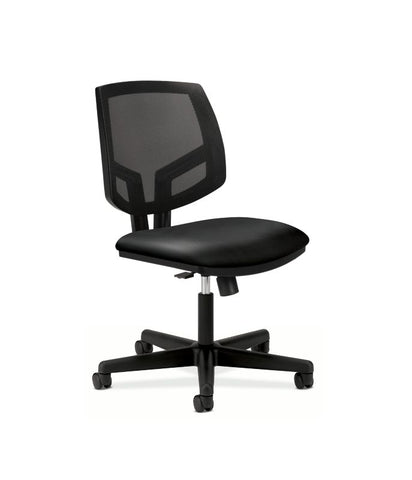 HON Volt Mesh Back Task Chair | Synchro-Tilt, Tension, Lock | Black SofThread Leather ; UPC: 191734204236 ; Image 1