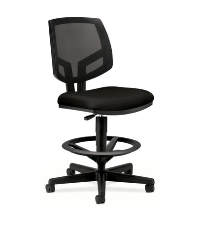 HON Volt Mesh Back Task Stool | Extended Height, Footring | Black Fabric ; UPC: 881728407889 ; Image 1