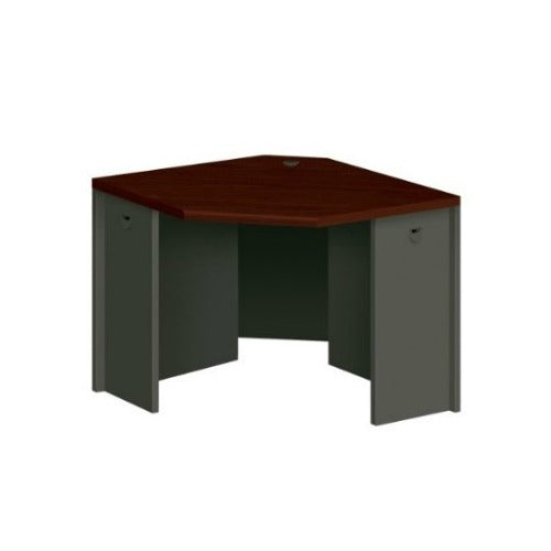 HON 3800 Series Corner Unit in Charcoal/MahoganyHON 3800 Series Corner Unit in Charcoal/Mahogany