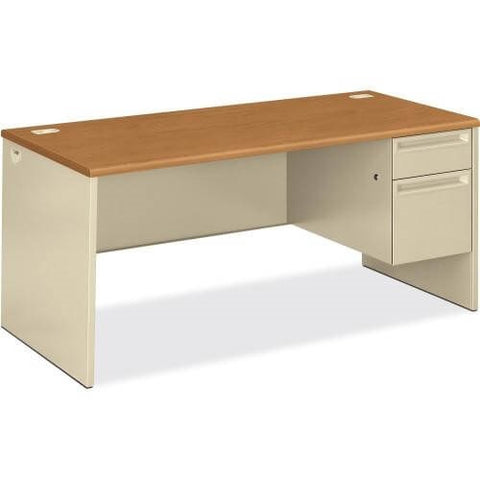 HON 38291R Pedestal Desk with Lock HON38291RCL, Putty (UPC:089192141357)