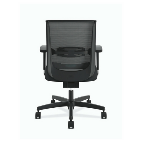 HON Convergence Synchro Tilt Task Chair With Seat Slide Control In Black  Fabric, Back