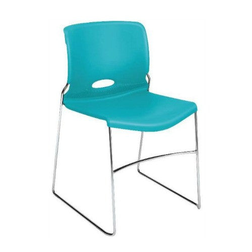 HON Olson High-Density Stacking Chair HON4041CP, Blue (UPC:881728065430)