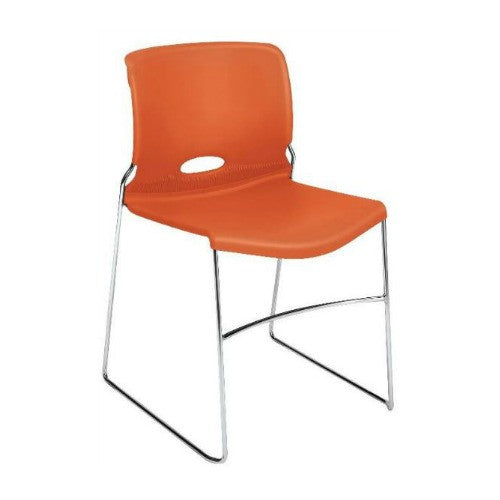 HON Olson High-Density Stacking Chair HON4041RG, Orange (UPC:791579421319)