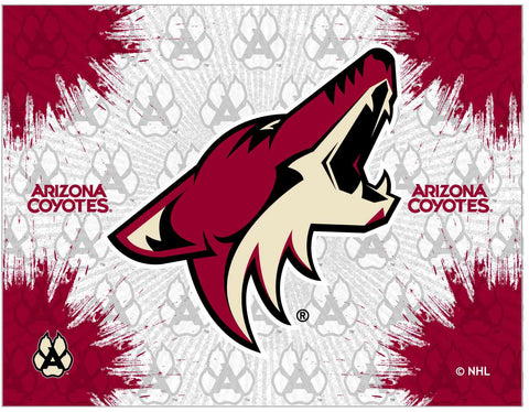 "Arizona Coyotes 24"" x 32"" Logo Canvas by Holland Bar Stool Company; UPC: 071235793098"