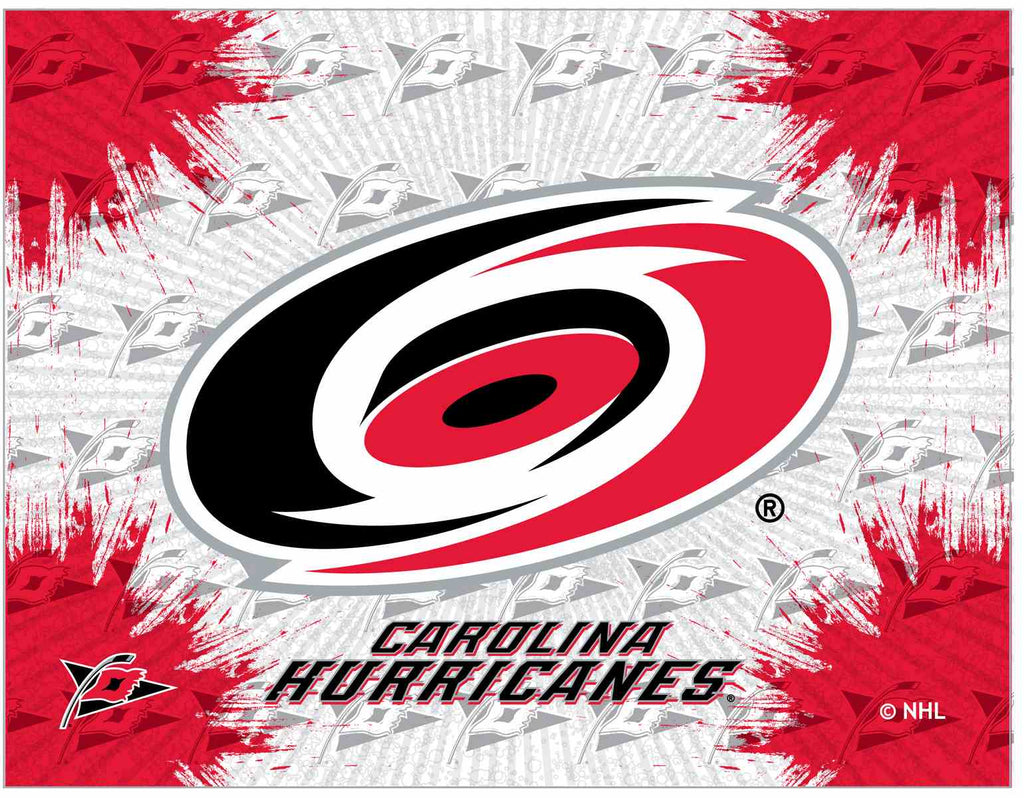 "Carolina Hurricanes 15"" x 20"" Logo Canvas by Holland Bar Stool Company; UPC: 071235791445"