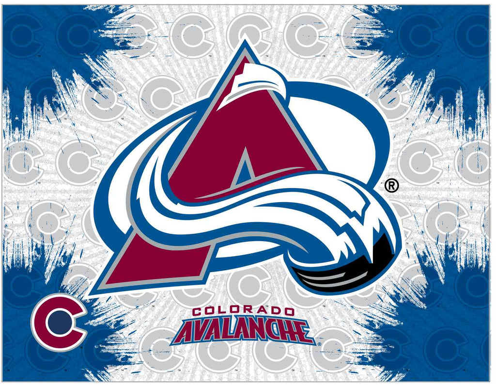 "Colorado Avalanche 24"" x 32"" Logo Canvas by Holland Bar Stool Company; UPC: 071235793159"