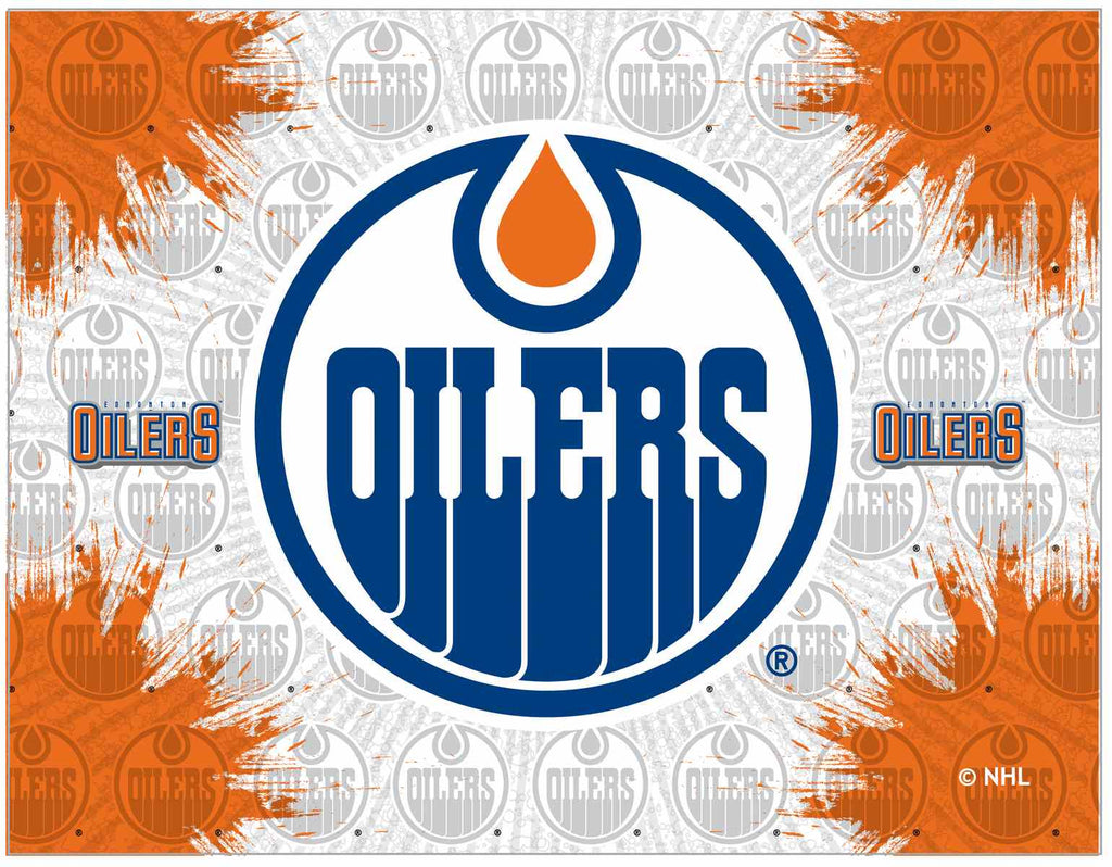 "Edmonton Oilers 15"" x 20"" Logo Canvas by Holland Bar Stool Company; UPC: 071235791506"