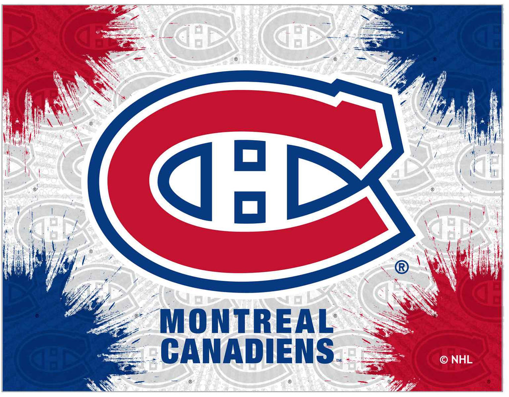 "Montreal Canadiens 15"" x 20"" Logo Canvas by Holland Bar Stool Company; UPC: 071235791544"