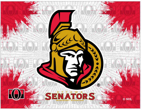 "Ottawa Senators 24"" x 32"" Logo Canvas by Holland Bar Stool Company; UPC: 071235793289"