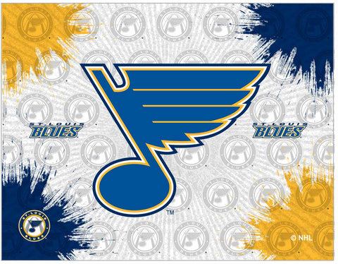 "St Louis Blues 24"" x 32"" Logo Canvas by Holland Bar Stool Company; UPC: 071235793326"