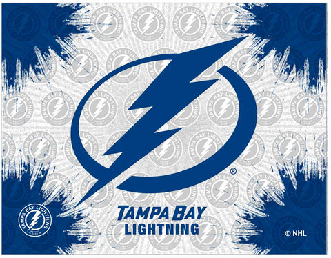 "Tampa Bay Lightning 24"" x 32"" Logo Canvas by Holland Bar Stool Company; UPC: 071235793333"