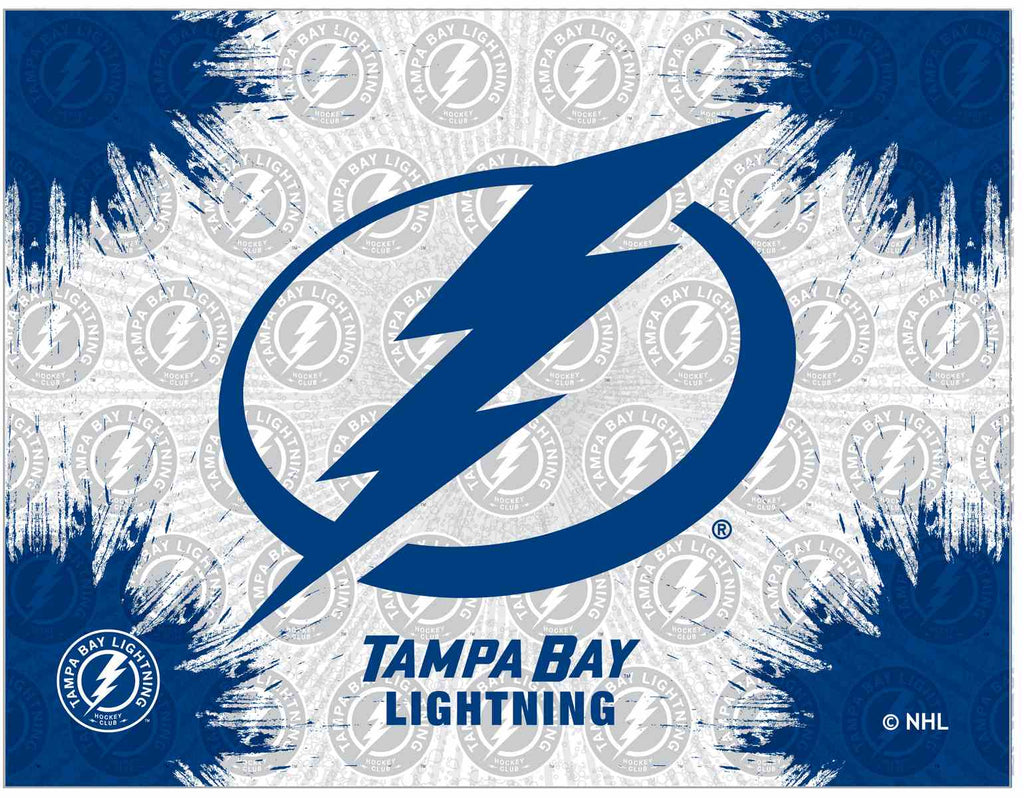 "Tampa Bay Lightning 15"" x 20"" Logo Canvas by Holland Bar Stool Company; UPC: 071235791643"