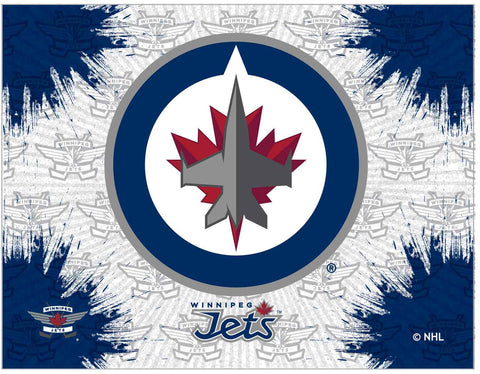 "Winnipeg Jets 24"" x 32"" Logo Canvas by Holland Bar Stool Company; UPC: 071235793364"