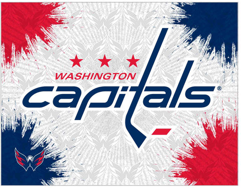 "Washington Capitals 24"" x 32"" Logo Canvas by Holland Bar Stool Company; UPC: 071235793371"
