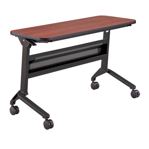 "Safco Products Flip-N-Go 18 x 48"" Rectangular Training Table, LPL LF1848TSLCRM(Image 1)"