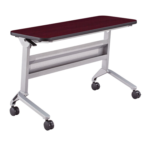 "Safco Products Flip-N-Go 18 x 48"" Rectangular Training Table, LPL LF1848TSLVRMH(Image 1)"