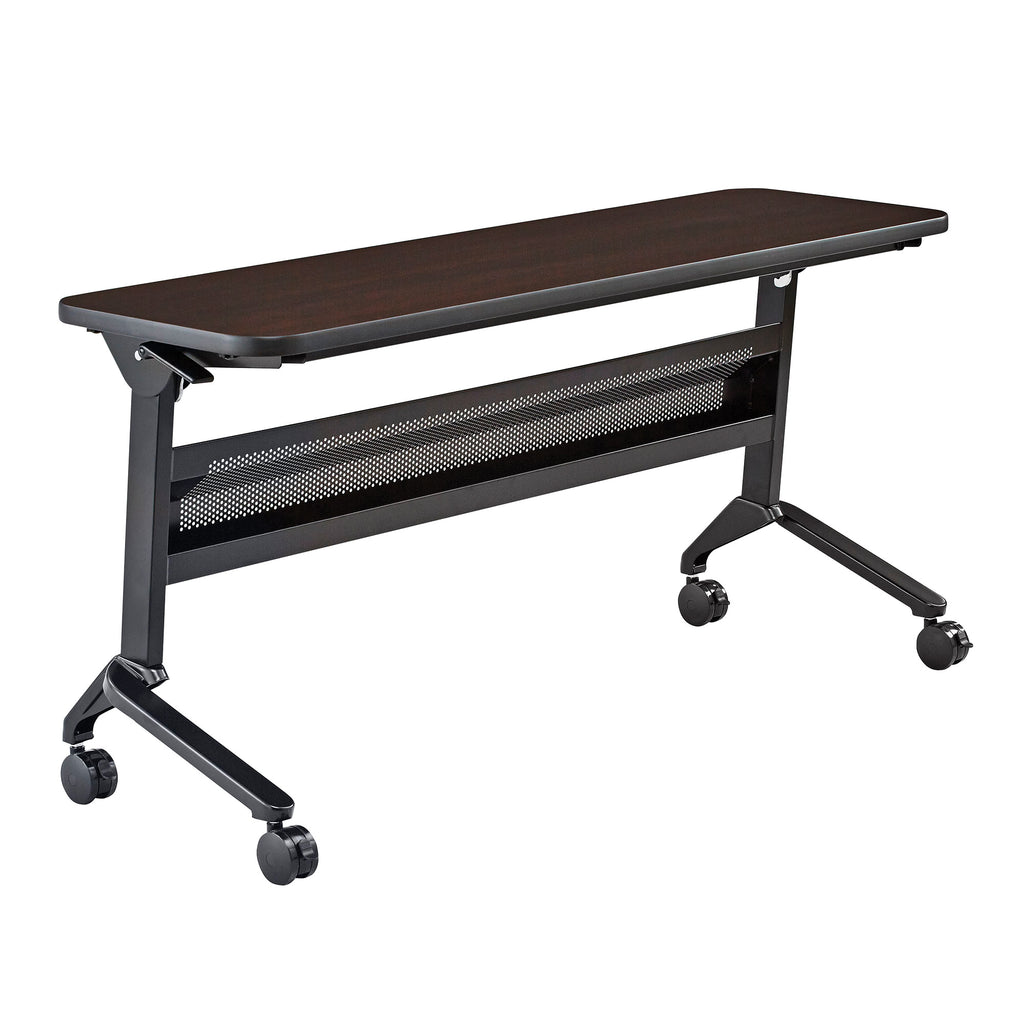 "Safco Products Flip-N-Go 18 x 60"" Rectangular Training Table, LPL LF1860TSLDCM(Image 1)"