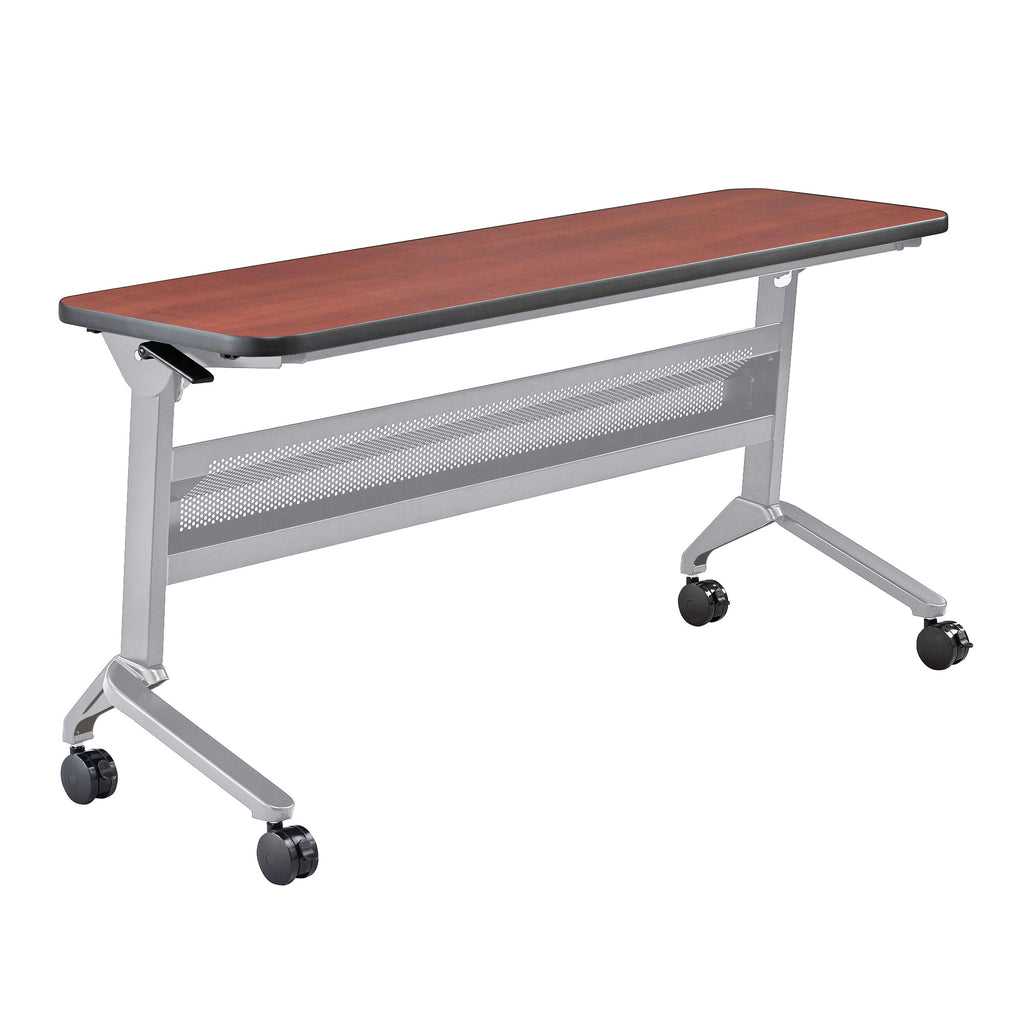 "Safco Products Flip-N-Go 18 x 60"" Rectangular Training Table, LPL LF1860TSLVLCRM(Image 1)"