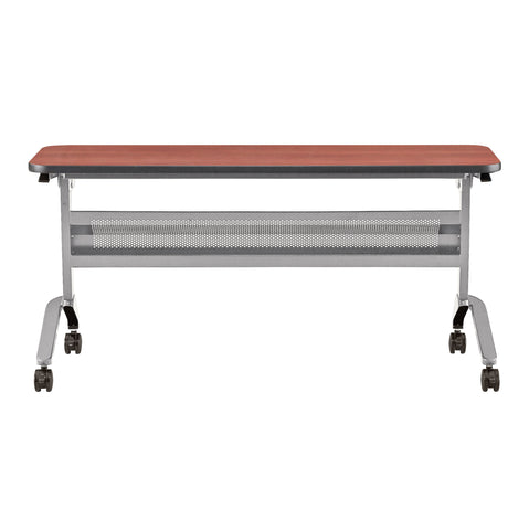 "Safco Products Flip-N-Go 18 x 60"" Rectangular Training Table, LPL LF1860TSLVLCRM(Image 2)"