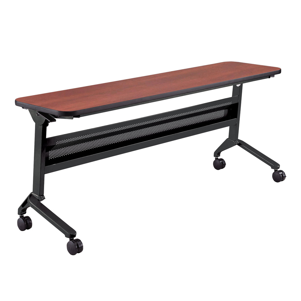 "Safco Products Flip-N-Go 18 x 72"" Rectangular Training Table, LPL LF1872TSLCRM(Image 1)"