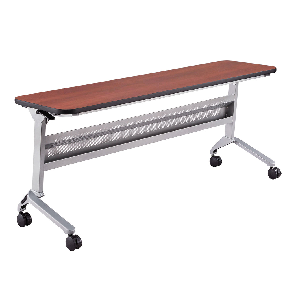 "Safco Products Flip-N-Go 18 x 72"" Rectangular Training Table, LPL LF1872TSLVLCRM(Image 1)"