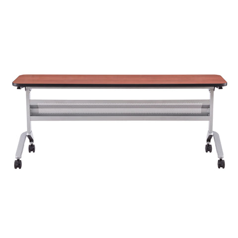 "Safco Products Flip-N-Go 18 x 72"" Rectangular Training Table, LPL LF1872TSLVLCRM(Image 2)"