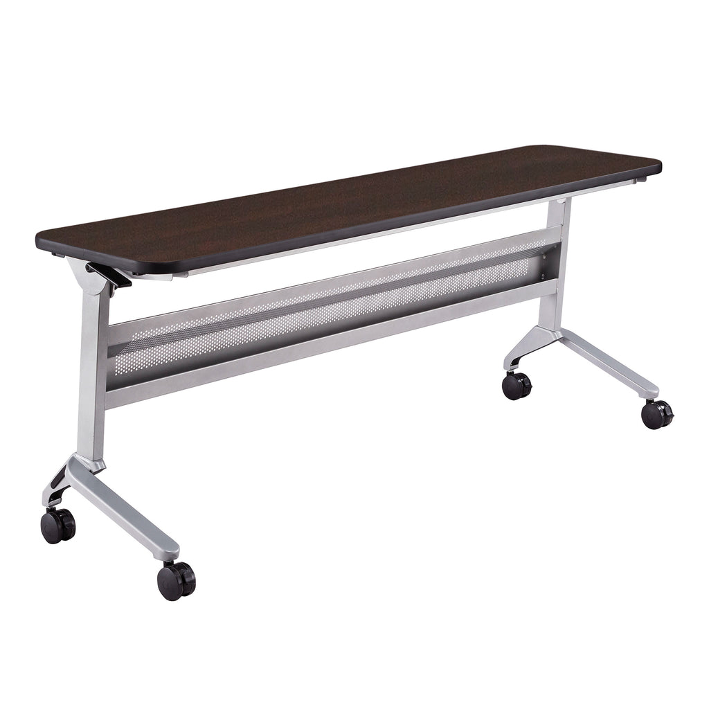 "Safco Products Flip-N-Go 18 x 72"" Rectangular Training Table, LPL LF1872TSLVLDCM(Image 1)"